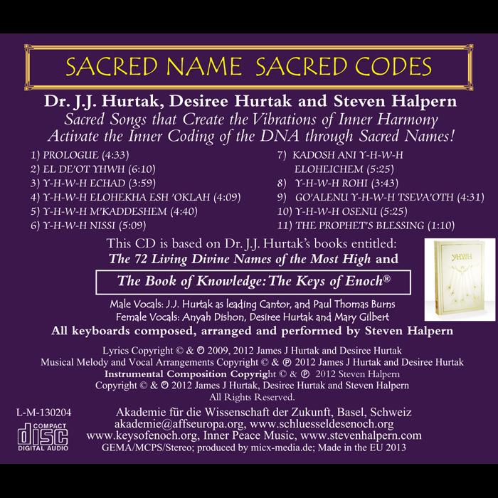 Sacred Name Sacred Codes Titelliste